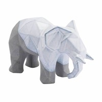 Geo Elephant White & Gray