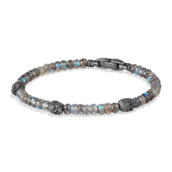 Men's Beaded Skull Station Bracelet - David Yurman
