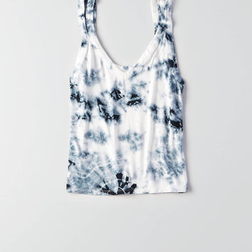 AEO Soft & Sexy Tie Dye Tank , True Black
