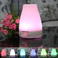 Essential Oil Diffuser,URPOWER® Aromatherapy Diffuser Portable Ultrasonic Aroma Humidifier with 7 Color Changing LED Lamps, Mist Mode Adjustment and Waterless Auto Shut-off Function - for Home Office