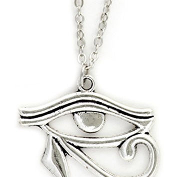 Eye of Horus Necklace Silver Tone Egyptian Eyeball NY34 Egypt Pharaoh Ra Royal Pendant Fashion Jewelry