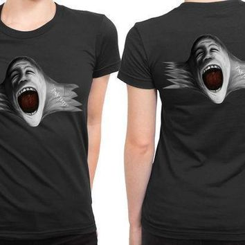 Pink Floyd Scream Face Blow Up 2 Sided Womens T Shirt
