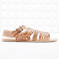 Deena & Ozzy Bali Hurachi Leather Sandals in Brown - Urban Outfitters