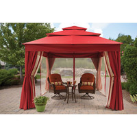 Walmart: Better Homes and Gardens Archer Ridge 3-Tier Gazebo with Netting & Sun Panel, Red, 12' x 10'