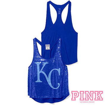Kansas City Royals Victoria's Secret PINK® Bling Racerback Tank