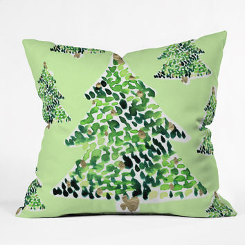 CayenaBlanca Smells Like Christmas Outdoor Throw Pillow