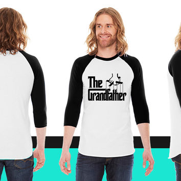 The Grandfather American Apparel Unisex 3/4 Sleeve T-Shirt