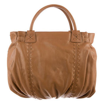 Carlos Falchi Leather Satchel
