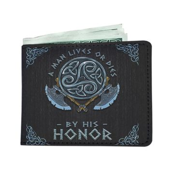 'A Man Lives or Dies by His Honor' (Norse / Viking) Men's Wallet