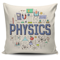Physics Pattern Pillow Case