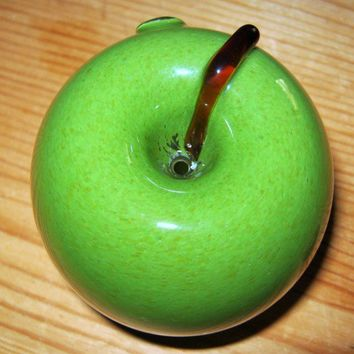 Handblown Glass Pipe Apple with Party Bowl