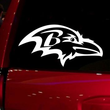 NFL Baltimore Ravens Auto Window audi jdm car accessories die cut Sticker Decal for Car Truck Suv Motorcyle 6'' wide white