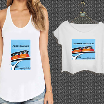 People Mover Disney Poster For Woman Tank Top , Man Tank Top / Crop Shirt, Sexy Shirt,Cropped Shirt,Crop Tshirt Women,Crop Shirt Women S, M, L, XL, 2XL*NP*