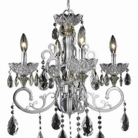 Kerman - Hanging Fixture (4 Light Traditional Hanging Crystal Chandelier) - 2406D20