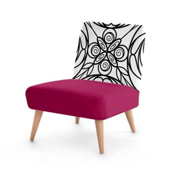 Wine Stained Glass Effect Occasional Chair