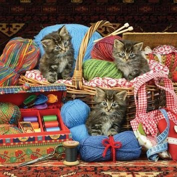 Kittens in the Basket 500pc Jigsaw Puzzle