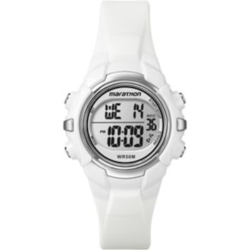 Timex Marathon Digital Mid-Size Watch - White