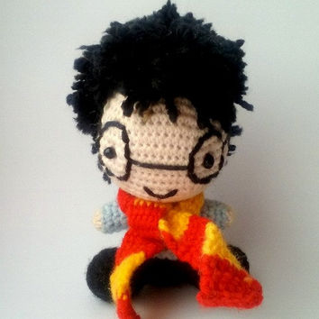 Harry Potter. Harry Potter Pattern. PDF file amigurumi crochet pattern. DIY handmade toy.