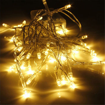 LED Warm White LED string lights Fairy String Christmas Lights Outdoor for Weddings Natal Garden Holiday Decoration