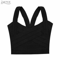 New Brand blusas femininas Rose Red Purple Black Bandage Bustier Top for Women Sexy Tank Tube Top Bodycon Elastic Crop Top