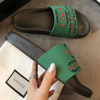 Gucci Casual Fashion Women Man Sandal Slipper Shoes