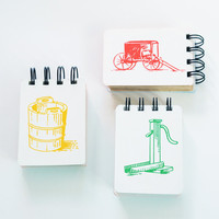 Dutch Blitz upcycled mini notebooks, set of 3 journals amish mennonite pump buggy plow card game