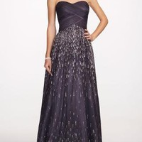 Strapless Prom Ballgown with Beaded Skirt - David's Bridal - mobile