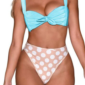 Pin Up Bowknot Bikini and Thong