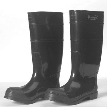 Medline Black Steel Toe PVC Boots by Liberty Glove