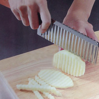 potato wavy edged knife stainless steel plastic handle kitchen gadget vegetable fruit cutting peeler cooking tool accessories