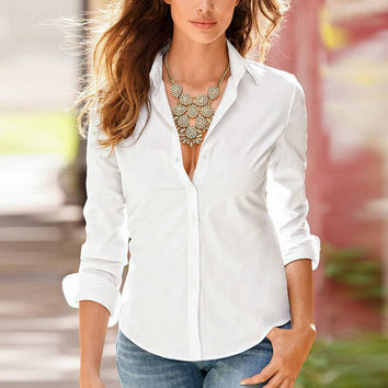 Womens Cosy Solid Slim Shirts