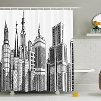 NYC Skyscraper Shower Curtain