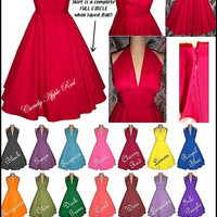 All Sizes/All Measurements... Beautiful Lt Wt Cotton Halter Dress... The Perfect Dress - Style and Comfort...