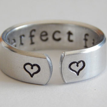 Perfect Fit, Secret Message Ring, Statement Ring, Gift Under 20