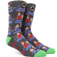 """New"" Socks 8 Bit Wrestlers Crew Socks - Mens Socks - Multi - One"