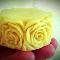 Organic Beeswax Cocoa Butter Lotion Massage Bar, Honey Cocoa, Hypoallergenic, Floral Pattern
