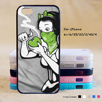 Disney Princess Smoking Phone Case For iPhone 6 Plus For iPhone 6 For iPhone 5/5S For iPhone 4/4S For iPhone 5C3 iPhone X 8 8 Plus
