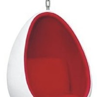 Fine Mod Imports Egg Hanging Chair, White