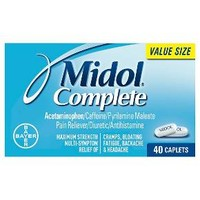Midol Complete Maximum Strength Caplets - 40 Count : Target
