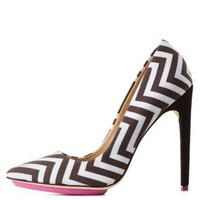 GX by Gwen Stefani Chevron Pointed Toe Pumps