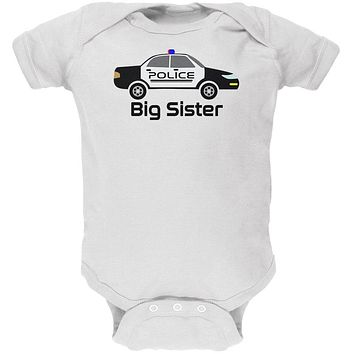 Big Sister Police Car Soft Baby One Piece
