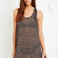 Lace Trim Sheer Slip in Floral Print - Urban Outfitters