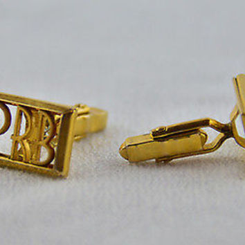 Vintage Swank Gold Cufflinks Classic Rectangular Shape