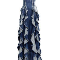 Denim Eve Evening Dress | Moda Operandi