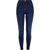 River Island Womens Dark wash premium Lana superskinny jeans