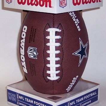 DALLAS COWBOYS LOGO WILSON COMPOSITE LEATHER FULL SIZE FOOTBALL F1748