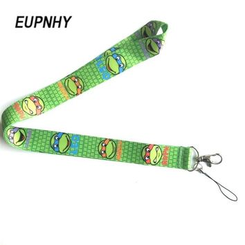 EUPNHY 1Pcs Teenage Mutant Ninja Turtles Neck Strap Lanyard Cartoon Keys Mobile Phone ID Badge Lanyard Hanging Rope