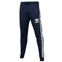 Adidas Trending Women Men Leisure Print Sport Gym Pants Trousers Sweatpants Blue I