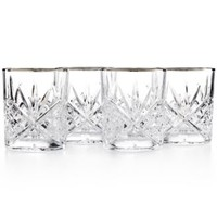 Godinger Dublin Platinum Double Old Fashioned Glasses, Set of 4 | macys.com