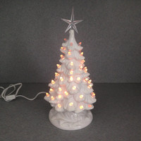 """Christmas tree 14"""" tall  traditional holiday decoration ( READY to ship) Wedding white tree with snow  #WWsnow12212016"""